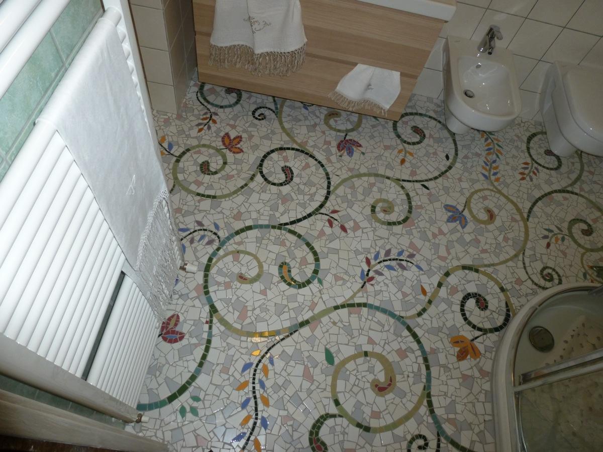 Design e architettura mosaico a rimini e pesaro - Mosaico pavimento bagno ...