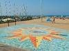 Mosaico sulla spiaggia di Cattolica