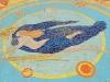 Mosaico sulla spiaggia di Cattolica: particolare