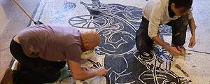 Lavorazione mosaico a Sant'Angelo in Vado